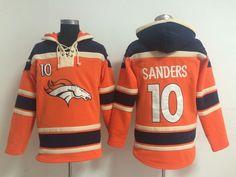 9871b15214c Denver Broncos  10 Emmanuel Sanders Orange Sawyer Hooded Sweatshirt NFL  Hoodie