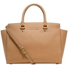 MICHAEL Michael Kors Handbag, Selma Large East West Satchel ($358) ❤ liked on Polyvore
