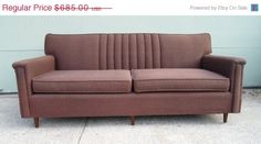 SUMMER SALE Vintage Mid Century Modern Sofa by alsredesignvintage, $582.25