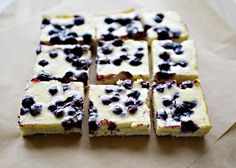 Blueberry Cheesecake Bars recipes - You could change the blueberries to cherries, peaches, strawberries, raspberries.