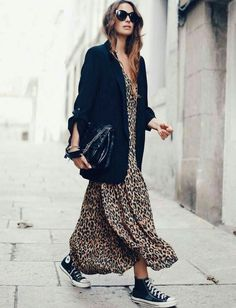 Animal print | Sneakers | Maxi Dress