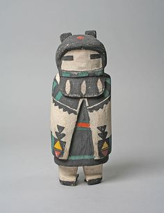 Hopi hooded Katsina doll, 20th century, United States, Arizona. Medium: Wood, pigment, cloth. The Metropolitan Museum of Art, New York.