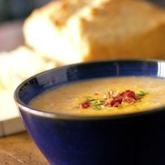 Irish Potato Soup + Honey Beer Bread from The Fresh Fridge
