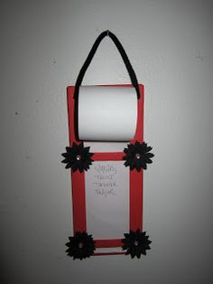 Homemade shopping list holder inspirtation