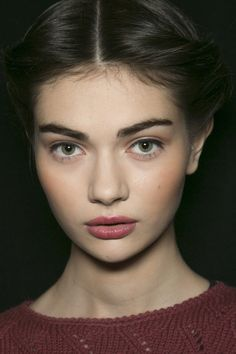 Antonina Vasylchenko backstage at Carolina Herrera Fall 2013