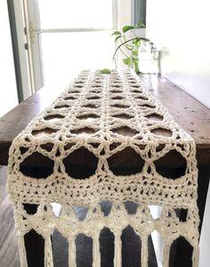 Crochet Home, Crochet Yarn, Free Crochet, Cotton Crochet, Crochet Table Runner Pattern, Crochet Placemats, Yarn Projects, Crochet Projects, Honey Locust Tree