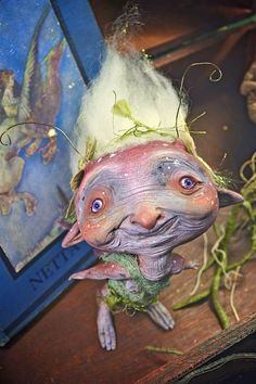 Blenavlinta Humppguis - art doll fantasy creature old magical fairy