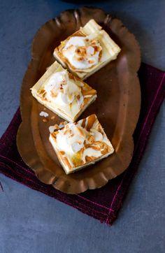 Pumpkin Spice Ricotta Cheesecake Bars
