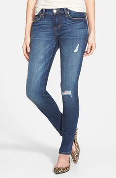 Free shipping and returns on STS Blue 'Piper' Deconstructed Skinny Jeans (Coral Beach) at Nordstrom.com. Contrast stitching highlights laid-back skinny jeans styled with threadbare details and light fading for a versatile, pair-with-anything style.