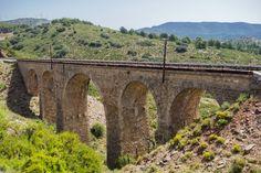 La Vía Verde `Ojos Negros´ a su paso por Barracas, Castellón.