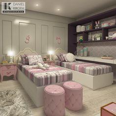 E quando os clientes têm filhas gêmeas? O resultado é duplamente prazeroso. Quarto projetado para as princesas Isabela e Valentina. #DanielKrothArquitetura #DKarquitetura #projeto #dormitorio #dormitoriodemenina #menina #girls #dormitoriogemeas #dormitoriosdasgemeas #gemeas #princesas #princess #princesse #contodefadas #beringela #paris #rosa #pink #rose #pantone #marcenaria #moveissobmedida #mmartan