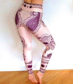 Henna Peacock Legging | Altar Ego  Printed Yoga Pants, Leggings and Tops! www.altarego-usa.com