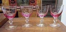 """4 Tiffin Wistaria #17394 Water Goblets 5 5/8"""""""