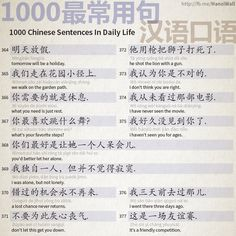 1000 Chinese Sentences In Daily Life - Part 24