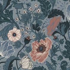Midbec Apelviken Anemone 33004 | Tapetkollektionen Apelviken inspirerar dig till att skapa ditt drömhem. Ett hemtrevligt och inbjudande hem. Färgskala