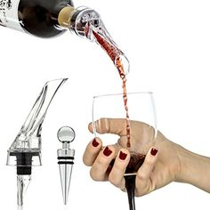 Vinomaster Red Wine Aerating Pourer Decanter Spout Gift Set And Best Bottle Stopper Bar Accessory, 2015 Amazon Top Rated Bar Sets #Kitchen