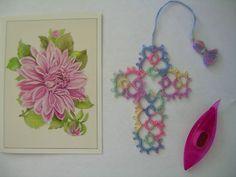 Tatted Cross Bookmark Handmade Tatting with Vintage Crochet Thread   eBay