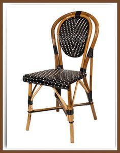 Armless French Bistro Chair mediterranean chairs