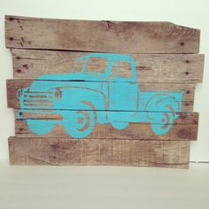 Truck silhouette rustic farm truck pallet by TheCreativePallet