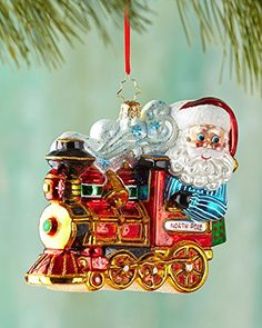 "Christopher Radko North Pole Express Christmas Ornament Product Features  Radko ornament is approximately 5.5"" tall 2015 collection of mouth blown glass Christm"