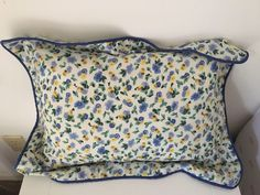 Vintage Laura Ashley Polyanthus Primrose Throw Pillow Blue Yellow Green  | eBay