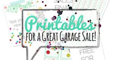 HUGE collection of #free #printables for your next #garage sale. Includes pricing signs and pre-made free, all sales final, etc signage. Prints on … | Pinteres…