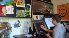 Dreamwork's Timothy Lamb NGM created this piece on Timothy Lamb a Visual Development Artist and Art Director for the Motion Picture Megamind.  Recorded on location at PDI/Dreamworks offices in Redwood City California