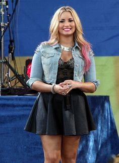 Clearly, Demi Lovato just can't get enough of Topshop... and we can't get enough of her spiked denim jacket!