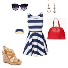 red white and blue summer outfit