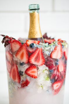 Charming DIY Floral Ice Bucket