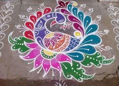 Simple Rangoli Designs Images, Rangoli Patterns, Colorful Rangoli Designs, Rangoli Ideas, Rangoli Designs Diwali, Diwali Rangoli, Easy Rangoli, Beautiful Rangoli Designs, Simple Designs