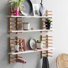 """Green & Mustard on Instagram: """"Just brilliant. What a fantastic #ikeahack from @janneke.peters.styling 📸 @ louislemaire plate rack shelving.  @ikeauk #ikea #ikeahack #diy…"""""""