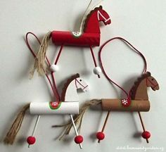 Christmas Crafts, Christmas Decorations, Christmas Ornaments, Holiday Decor, Horse Crafts, Animal Crafts, Fun Crafts, Crafts For Kids, Arts And Crafts