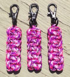 Pink Camo #Paracord Zipper Pulls by stockstilloutdoor.com.                                                                                                                                                     More