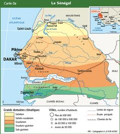 Senegal Map As you see the capital is Dakar