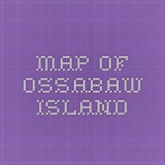map of Ossabaw Island
