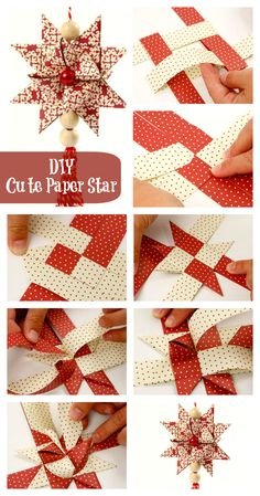 DIY Cute Paper Star - I've always wanted to know how to make these