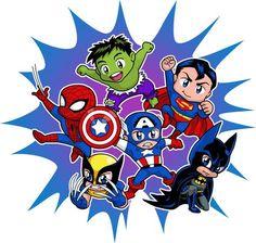 Chibi Heroes by *Real-Warner on deviantART