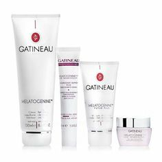 4 piece skincare collection including the Advanced Rejuvenating Cream & Radiance Mask, Salon size Eye Concentrate & the Refreshing Cleansing Cream. 205310 - Gatineau 4 Piece Anti Ageing Melatogenine Collection QVC Price: £75.00 Introductory Price : £60.48 + P&P: £5.95 http://www.qvcuk.com/Gatineau-4-Piece-Anti-Ageing-Melatogenine-Collection.product.205310.html?sc=CommissionJunction&ref=aff&cm_mmc=CJ-_-3507660_-5507647-_-QVC+UK+Product+Catalog&source=205310
