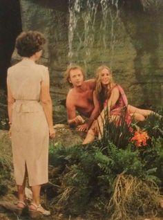 On the GH set: Exec Producer Gloria Monty with Tony Geary and Genie Francis in Tango, Tony Geary, Saunas, Genie Francis, Luke And Laura, General Hospital, Back In The Day, Behind The Scenes, The Past