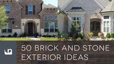 50 Brick And Stone Exterior Ideas Stone Cladding Exterior, Stone Exterior Houses, Brick And Stone, Exterior Design, 50th, House Design, Mansions, House Styles, World
