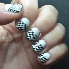 Pink & Polished: Lets go racing! Funky Nails, Crazy Nails, Checkered Nails, Pink Polish, Great Nails, Nail Designs, Hair Beauty, Nail Art, Nascar