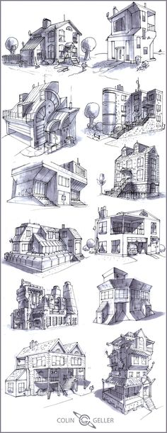 12 Buildings by ~MeckanicalMind on deviantART