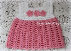 Lacy Crochet: Crochet Baby Dress, Size 0-1 Months