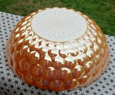 Anchor Hocking Orange/Peach/Copper Luster by amodernvintagehome, $12.00