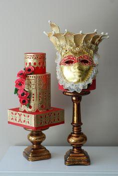 Venetian Mask Cake - Cake by https://www.facebook.com/Albena.cakes www.albenacakes,com