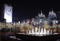 The beautiful LDS Temple Square is in the background of this photo I took during the 2002 Winter Olympics