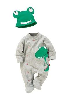 Buy Character Sleepsuits Two Pack With Hat (0mths-2yrs) from the Next UK online shop