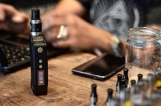 Coffee...finished. Phone... flat. Sigelei 150 TC...still going strong!  Hard at work at #VapeEmporium Find out more on our website: http://ift.tt/1fpCXFe