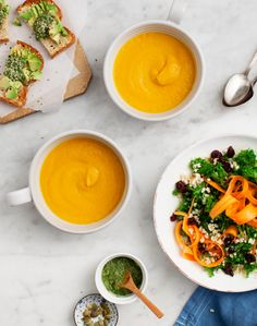 Carrot Soup with Carrot Top Pesto / loveandlemons.com